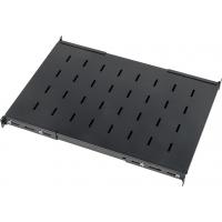 Полка с креплением на 4 точки для шкафов LANMASTER DCS глубиной 1070 мм, нагрузка - 45 кг, черная