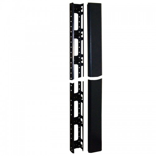 Кабельный органайзер вертикальный, 27U, для шкафов Business шириной 800 мм, металл, черный TWT-CBB-ORG27U