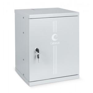 """Cabeus WSC-8Um Шкаф телекоммуникационный настенный 10"""" 8U 326x300x405mm (ШхГхВ) дверь металл"""