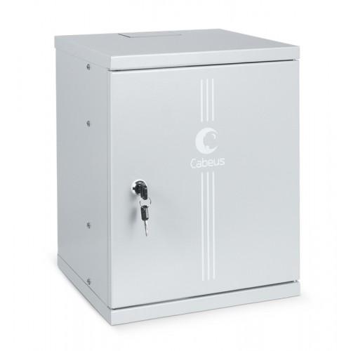 """Cabeus WSC-8Um Шкаф телекоммуникационный настенный 10"""" 8U 326x300x405mm (ШхГхВ) дверь металл WSC-8Um 7790c"""