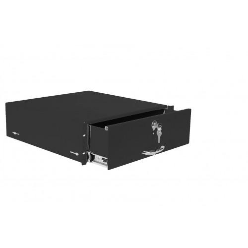 Полка (ящик) для документации 3U, цвет черный ТСВ-Д-3U.450-9005