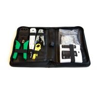 Набор инструментов для монтажа СКС (обжим, забивка, зачист, тестер, коннекторы)