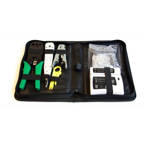 Набор инструмента для монтажника СКС (обжим, забивка, зачист, тестер, коннекторы) MDX-KIT-IT2