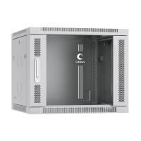 """Cabeus SH-05F-9U60/60 Шкаф 19"""" 9U 600x600 телекоммуникационный настенный, дверь стекло, серый"""