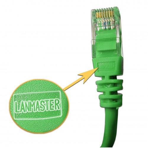 Патч-корд RJ45 UTP кат 5Е шнур медный LANMASTER 5.0 м зеленый LAN-45-45-5.0-GN