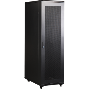 """Шкаф напольный 37U 600x800 19"""" TWT, черный, передняя дв. перфорир., задняя дв. распашная перфорир."""