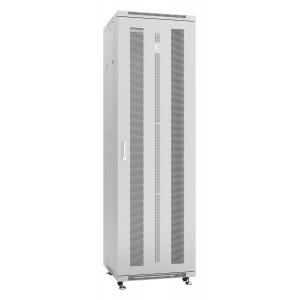 """Шкаф 19"""" 47U Cabeus напольный телекоммуникационный 600x600 серый, разборный, дверь перфорированная"""