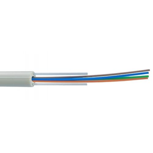 Кабель 8 волокон SM G657.A2 внутренний Riser, LSZH, белый LAN-OFC-RI8-S7A2-LS