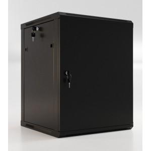 """Шкаф напольный 19"""" 15U, 775x600х450мм, металлическая передняя дверь с замком, две боковые панели"""