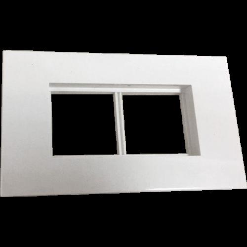 Суппорт с рамкой для короба 120х50 мм, 45х90 мм, белый LAN-CT120-F45x90-WH