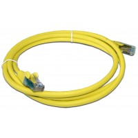 Патч-корд RJ45 кат 5e FTP шнур медный экранированный LANMASTER 1.0 м LSZH желтый