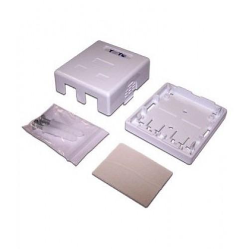 Настенная коробка 4 порта для Keystone TWT-SA4-WH