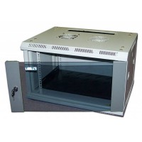 """Шкаф TWT настенный 19"""" 27U 600x450, стеклянная дверь"""