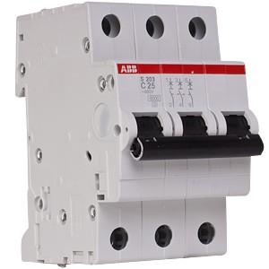 Автоматический выключатель ABB STOS203 C25 3п 25А  6кА (2CDS253001R0254)