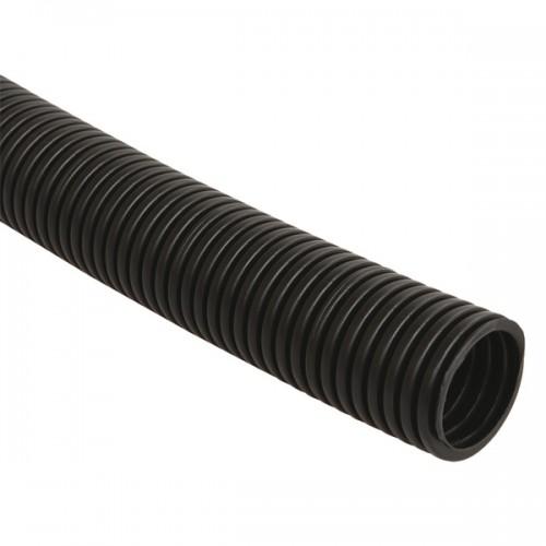 Труба гофрированная ПНД 32 мм с зондом (25 м) ИЭК черный CTG20-32-K02-025-1