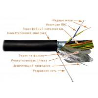 Кабель FTP 25 пар OUT внешний многопарный, кат 3, с гидрофобом, черный, экранированный 305м