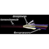 Кабель оптический 12 волокон одномод G.657, внешний, Distribution, PE, черный