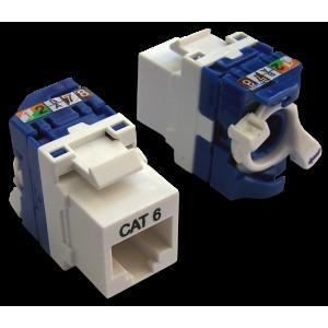 Модуль Keystone Tooless, RJ-45, кат.6, UTP, 180 градусов, белый, LAN-TK45U6/180-WH