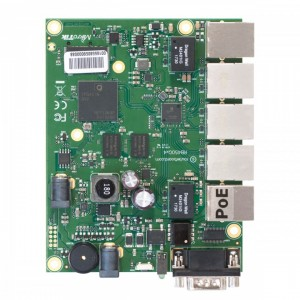 Маршрутизатор MikroTik RB450GX4 RouterBOARD 450Gx4 with four core 716MHz Atheros CPU, 1 GB RAM