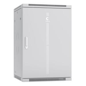 """Шкаф 19"""" 18U 600x600 Cabeus телекоммуникационный настенный, металлическая дверь, серый, разборный"""