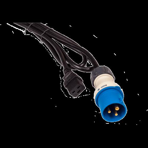 Шнур питания C19-I309 Male, 3х2.5, 220В, 16А, 2.5 метра LAN-PP9M/19-16A.2.5