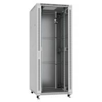 """Cabeus Шкаф 19"""" 42U напольный телекоммуникационный 800x800 серый, разборный, дверь стекло"""