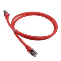 Патч-корд RJ45 кат 6A FTP шнур медный экранированный LANMASTER 1.0 м LSZH красный