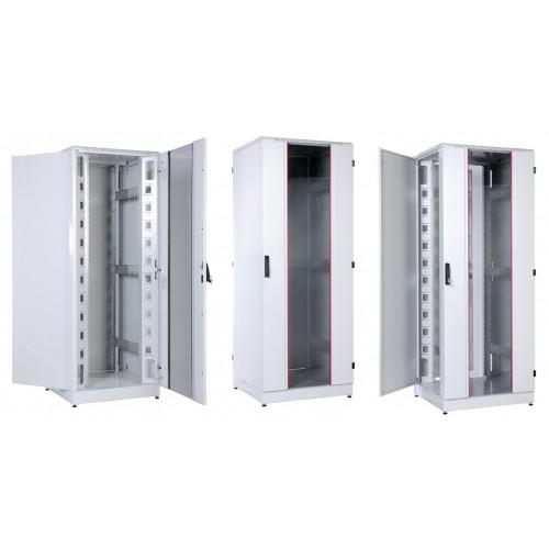 """Шкаф ЦМО 19 """" телекоммуникационный напольный кроссовый 42U 800x800 дверь металл,задняя металл,перфор ШТК-К-42.8.8-33ВВ"""