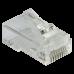 Коннектор RJ45 тип EZ, 8P8C, UTP, Cat.5e, универсальный, со вставкой, покрытие 50 микрон,100 шт. LAN-EZ45-8P8C/U5E-100