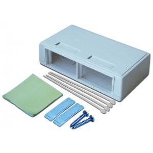 Коробка настенная на 2 модульные вставки, белая