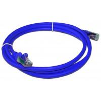 Патч-корд RJ45 кат 5e FTP шнур медный экранированный LANMASTER 0.5 м LSZH синий