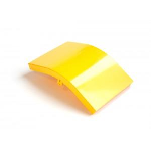 Крышка внешнего изгиба 45° оптического лотка 240 мм, желтая