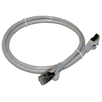 Патч-корд RJ45 TWT кат 6 FTP шнур медный экранированный 5.0 м серый