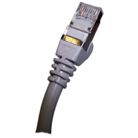 Патч-корд RJ45 TWT кат 5e FTP шнур медный экранированный 0.5 м серый