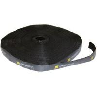 Lanmaster Хомут-липучка рулон шириной 20 мм, 30 м, черный