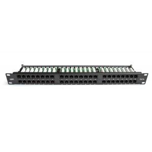 """Патч-панель 1U 48 портов 19"""" RJ45 UTP c5е высокой плотности MDX-PPR-UTP5е-48-1U"""