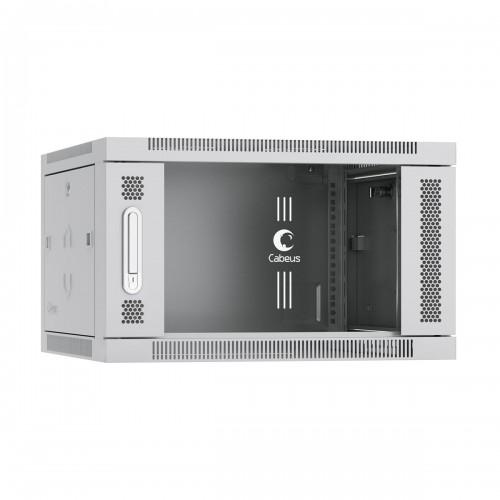 """Шкаф Cabeus настенный 6U 19"""" 600x450 mm телекоммуникационный дверь стекло, серый, разборный SH-05F-6U60/45"""