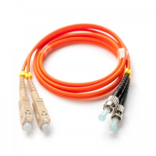 Патч-корд оптический дуплексный SC-ST многомод 50/125 2м MDX-2SC-2ST/2-M5