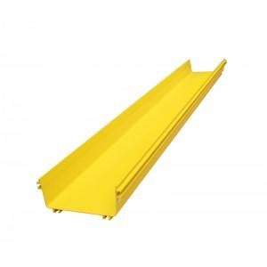 Оптический лоток 100x240 мм, прямая секция, 2 метра, желтая