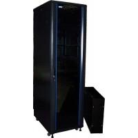"""TWT-CBB-27U-6x6 Шкаф 19"""" напольный 27U 600x600, без дверей, с боковыми стенками черный разборный TWT"""