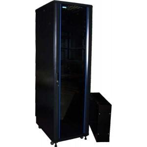 """Шкаф TWT 19"""" телекоммуникационный, Business, 27U 600x600, без дверей, с боковыми стенками, черный"""