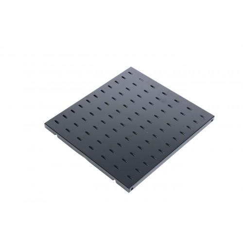 Полка перфорированная, глубина 450 мм, цвет черный СВ-45-9005