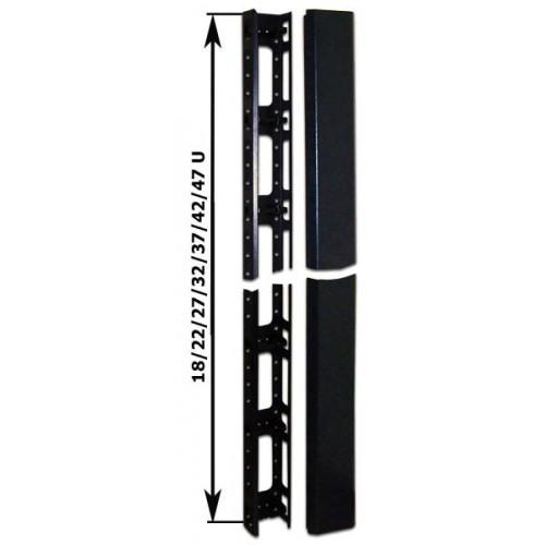 Кабельный органайзер вертикальный, 42U, для шкафов Business шириной 800 мм, металл, черный TWT-CBB-ORG42U