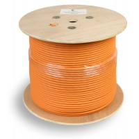 Кабель SSTP-4P-Cat.7-SOLID-IN-LSZH (S/FTP), кат. 7 , 4 пары (23 AWG), одножильный (solid) 305м
