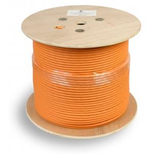 Кабель экранированная витая пара SSTP (S/FTP), кат. 7 , 4 пары (23 AWG), одножильный (solid) 305м