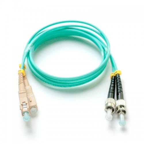 Патч-корд оптический дуплексный SC-ST многомод OM3 1м MDX-2SC-2ST/1-OM3