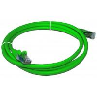 Патч-корд RJ45 кат 5e FTP шнур медный экранированный LANMASTER 10.0 м LSZH зеленый