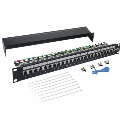 """Патч-панель 24 порта 19 """" категория 5е, LANMASTER , STP, 1U LAN-PPL24S5E"""