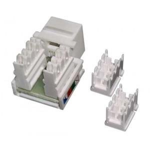 MDX-KEY12-U5e Кейстоун розеточный модуль Keystone RJ12  UTP, 90 градусов
