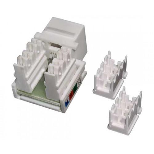 Кейстоун розеточный модуль Keystone MDX, RJ12, кат.5E, UTP, 90 градусов MDX-KEY12-U5e